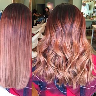 Rose Gold Color With Darker Roots