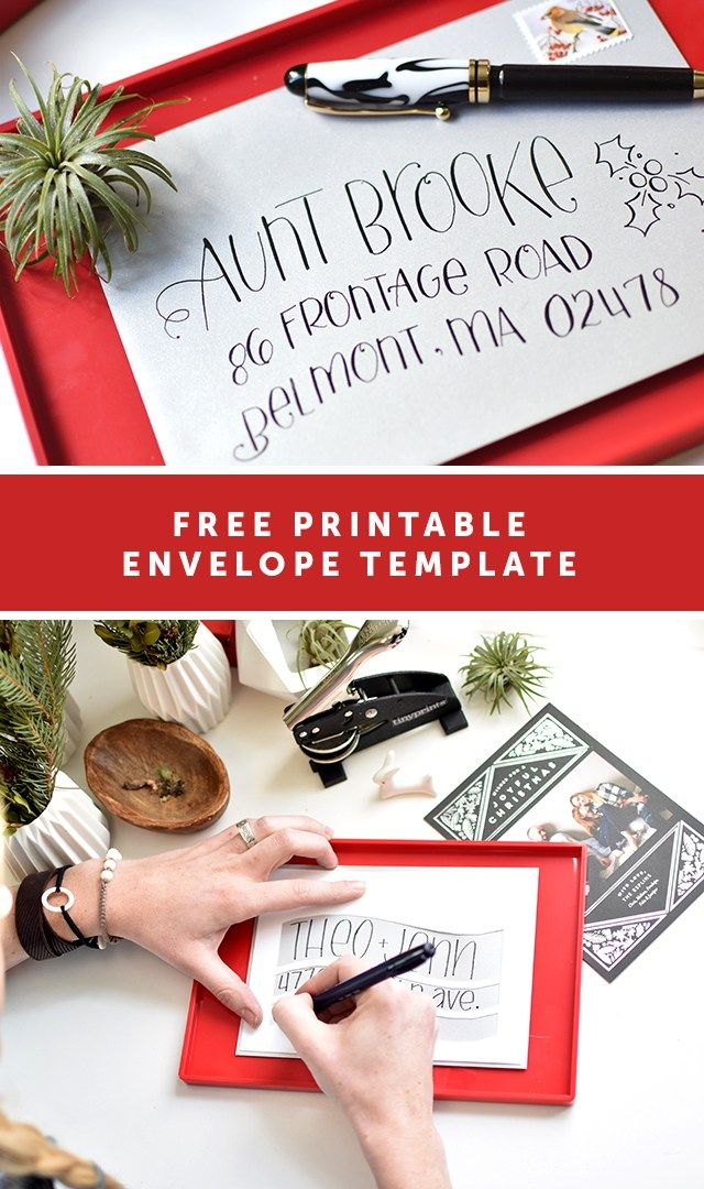 Sponsored Envelope Template Freebie with Tiny Prints