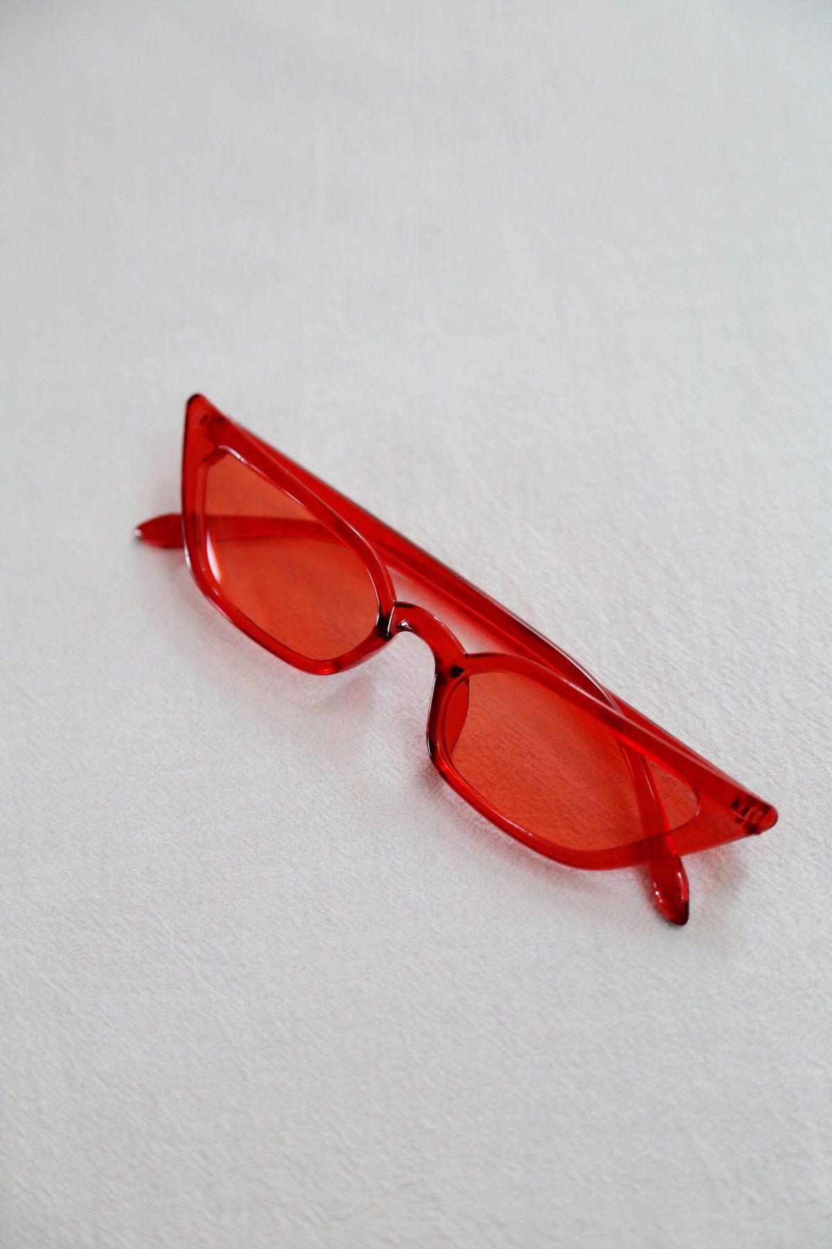 Aliz Sunnies Red Glasses Fashion Stylish Glasses Trendy Glasses