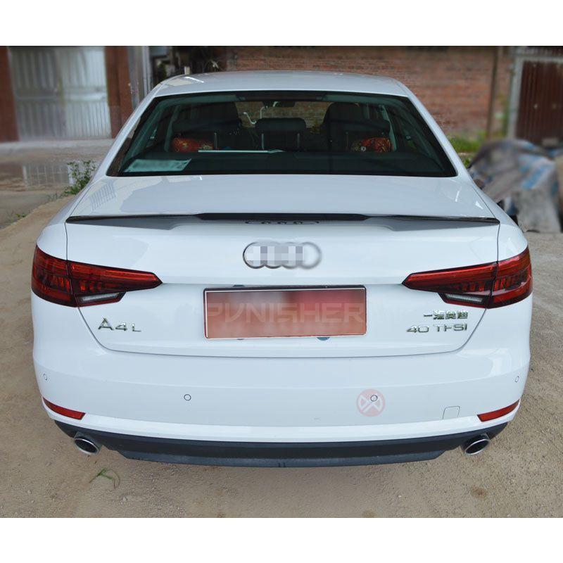 For Audi A4 B9 Spoiler Carbon Fiber Carbon Rear Trunk Spoiler Wing For B9 4 Door Saloon Sedan Audi A4 Saloon Audi