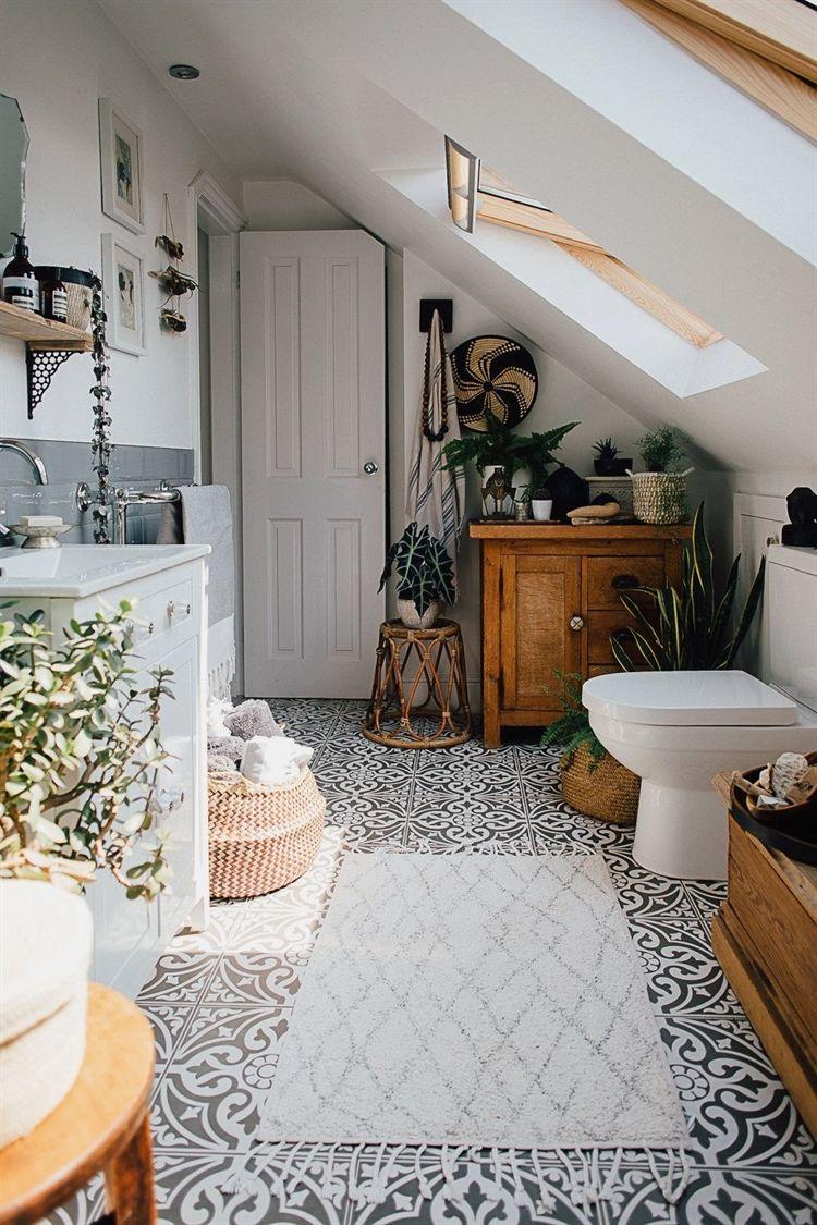 Monochrome Floor Tiles Theresas Four Bed Boho Inspired