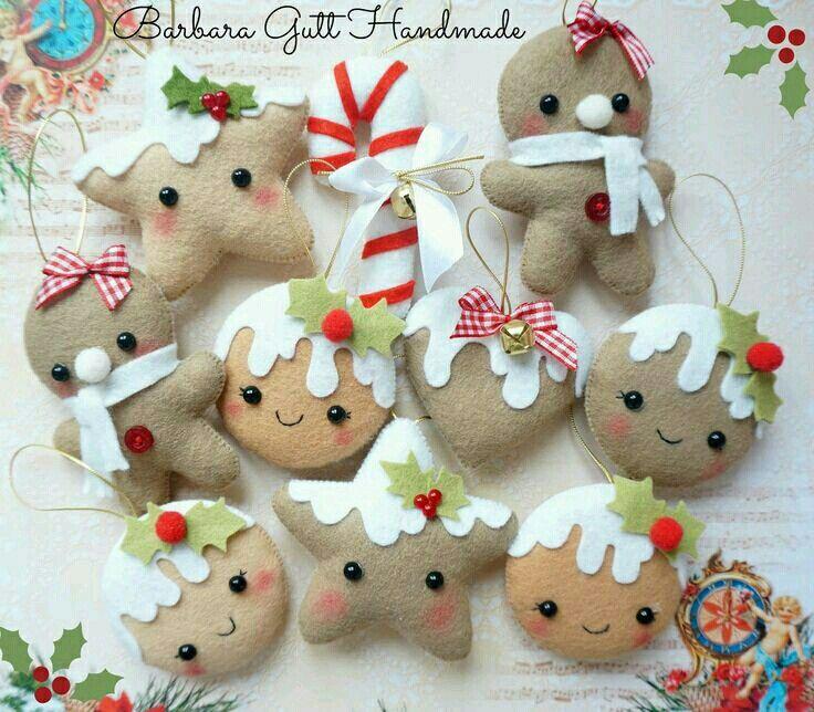 Pin de ivona krastanova en felt art pinterest - Ornamentos de navidad ...