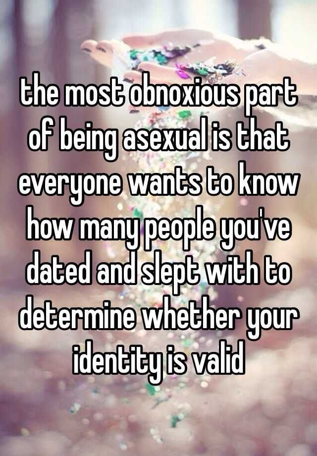 Asexual confessions