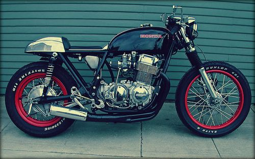 Honda Black Red & Chrome - CB750 Café Racer