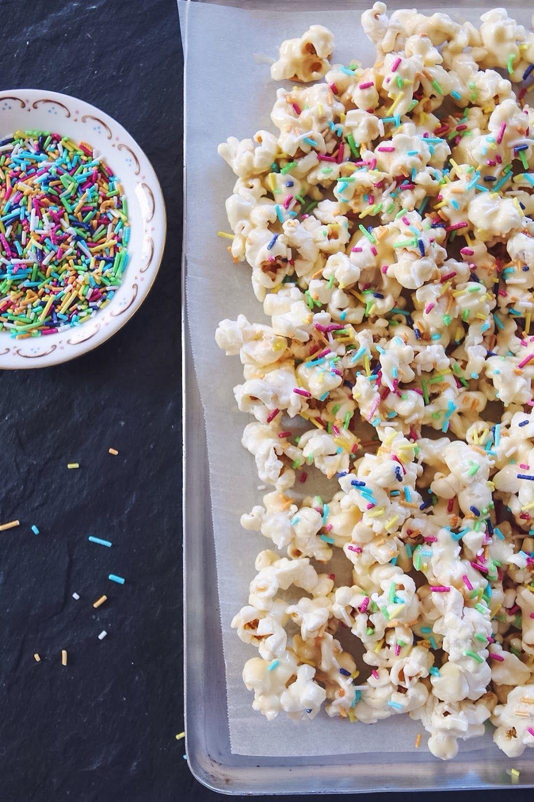 Vegan Cake Batter Popcorn (Gluten Free) IceCream and