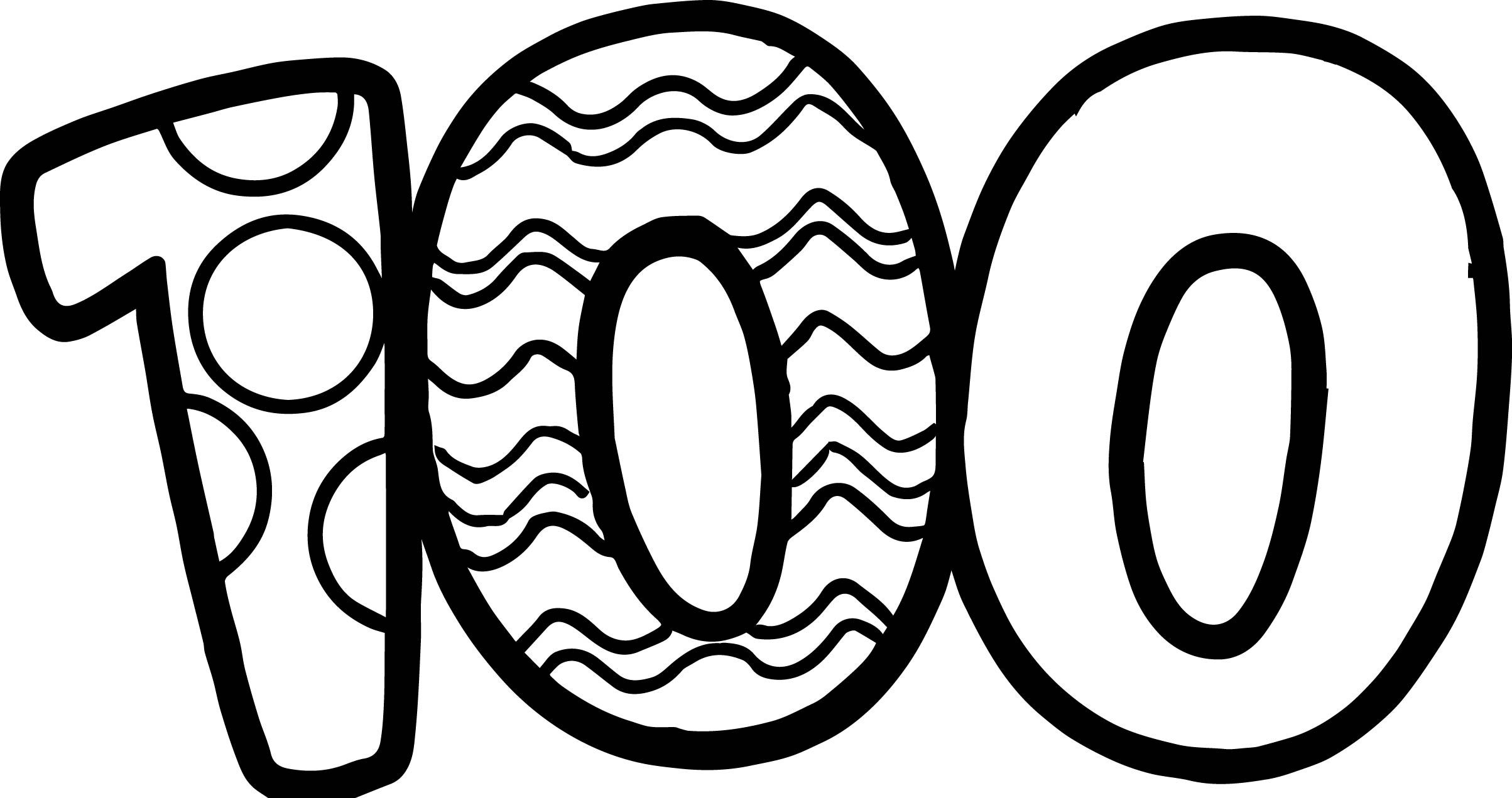 Nice 100 days of school number coloring page