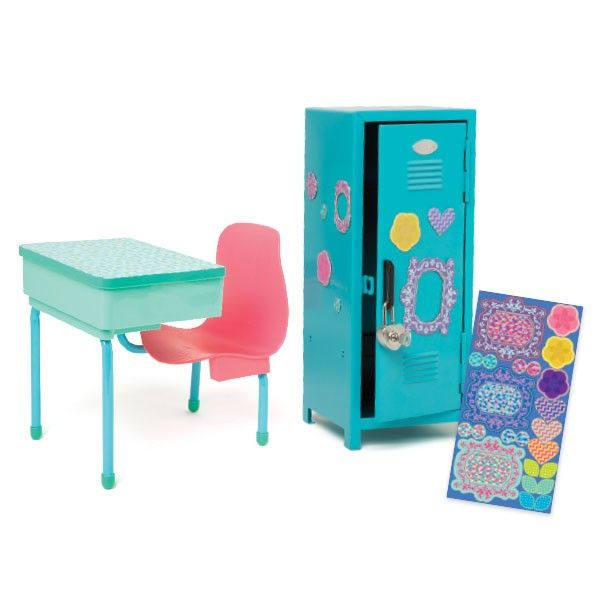 School Desk And Locker Km136 All Dolls Play Sets Outfits Accessories