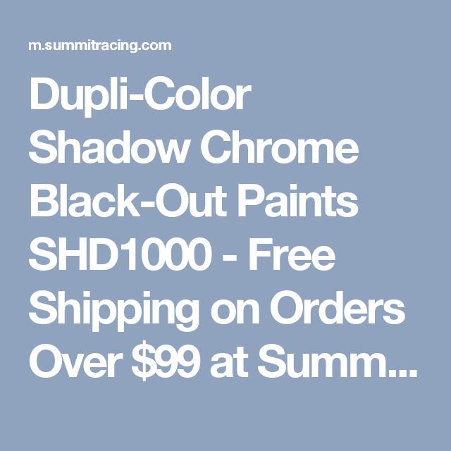 Dupli Color Shadow Chrome Black Out Paints Shd1000 Hobby