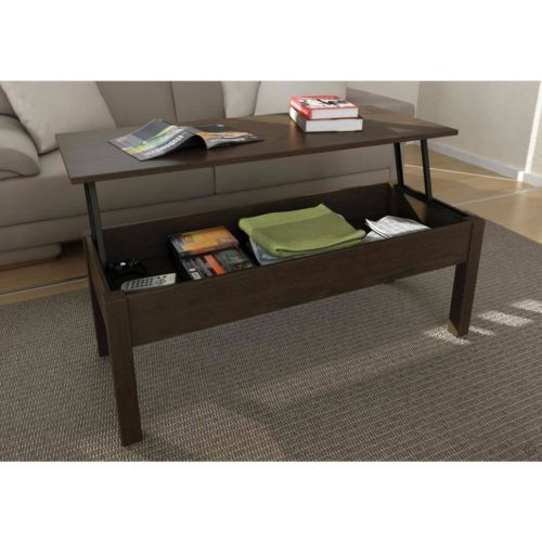 Lift Top Coffee Table Espresso Color Free Shipping
