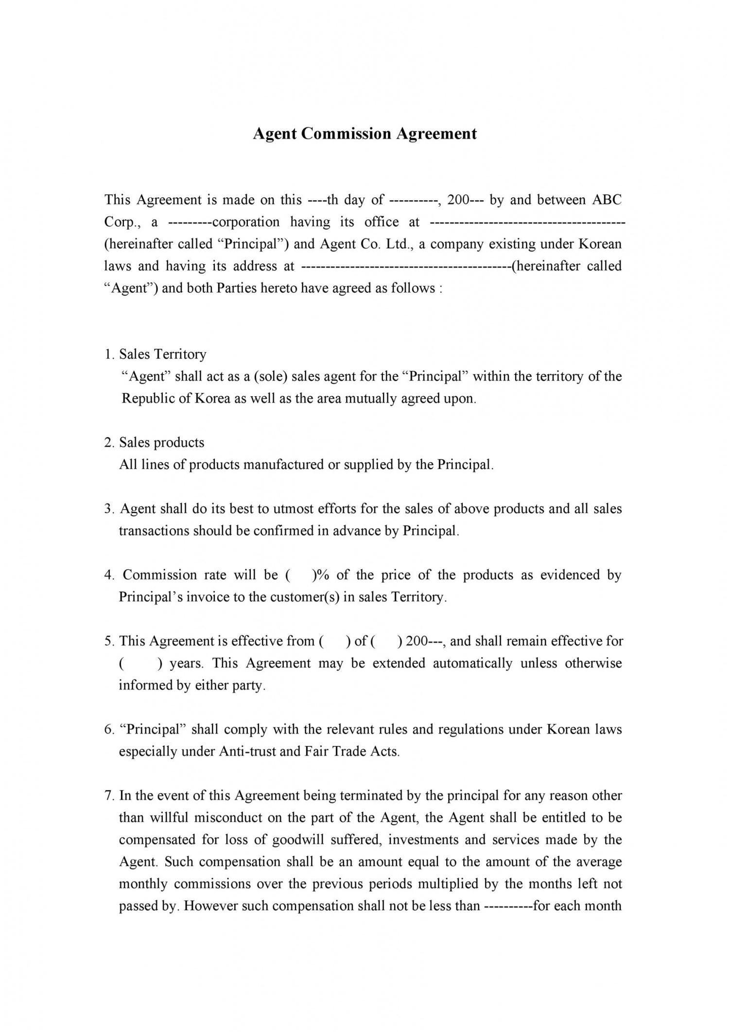 Browse Our Example Of Sales Commission Contract Template Contract Template Contract Agreement Contract