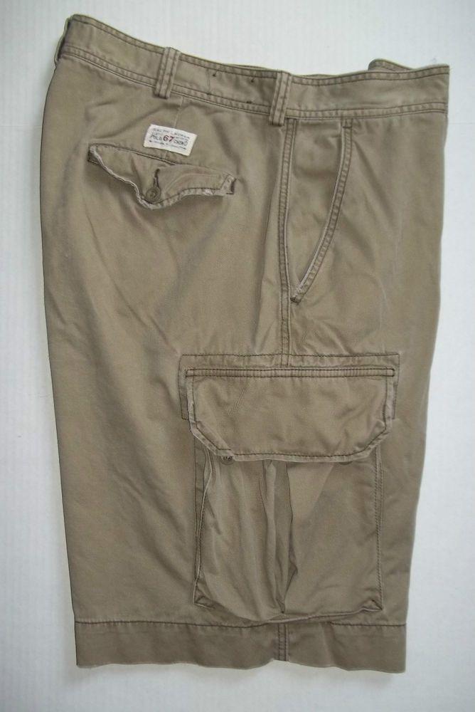 483f2925ad Ralph Lauren Classic Polo 67 Chino cotton twill khaki cargo shorts mens size  38 #RalphLauren #Cargo