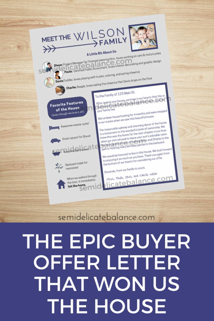 The Epic Buyer Offer Letter That Won Us The House  House Real