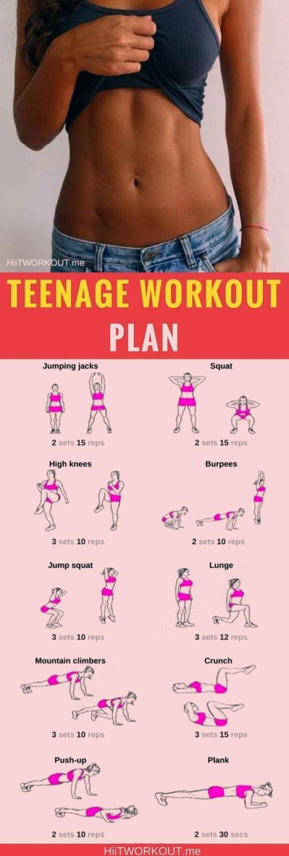 #für #Hause #Jugendliche #Workout #zu Workout for Teens at Home Hier ist ein Heimtrainingsplan für T...
