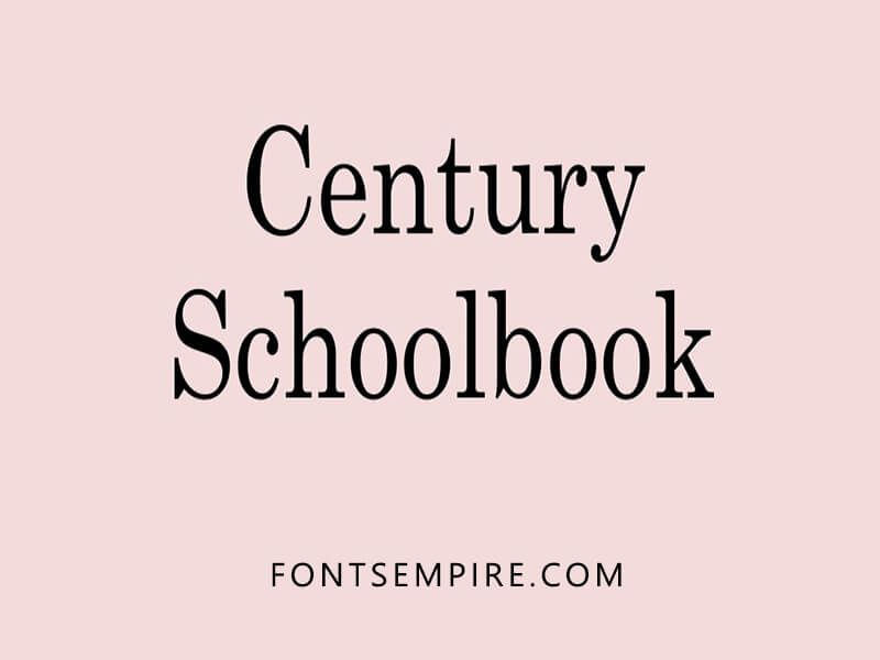 Century Schoolbook Font Family Download Font Family Download