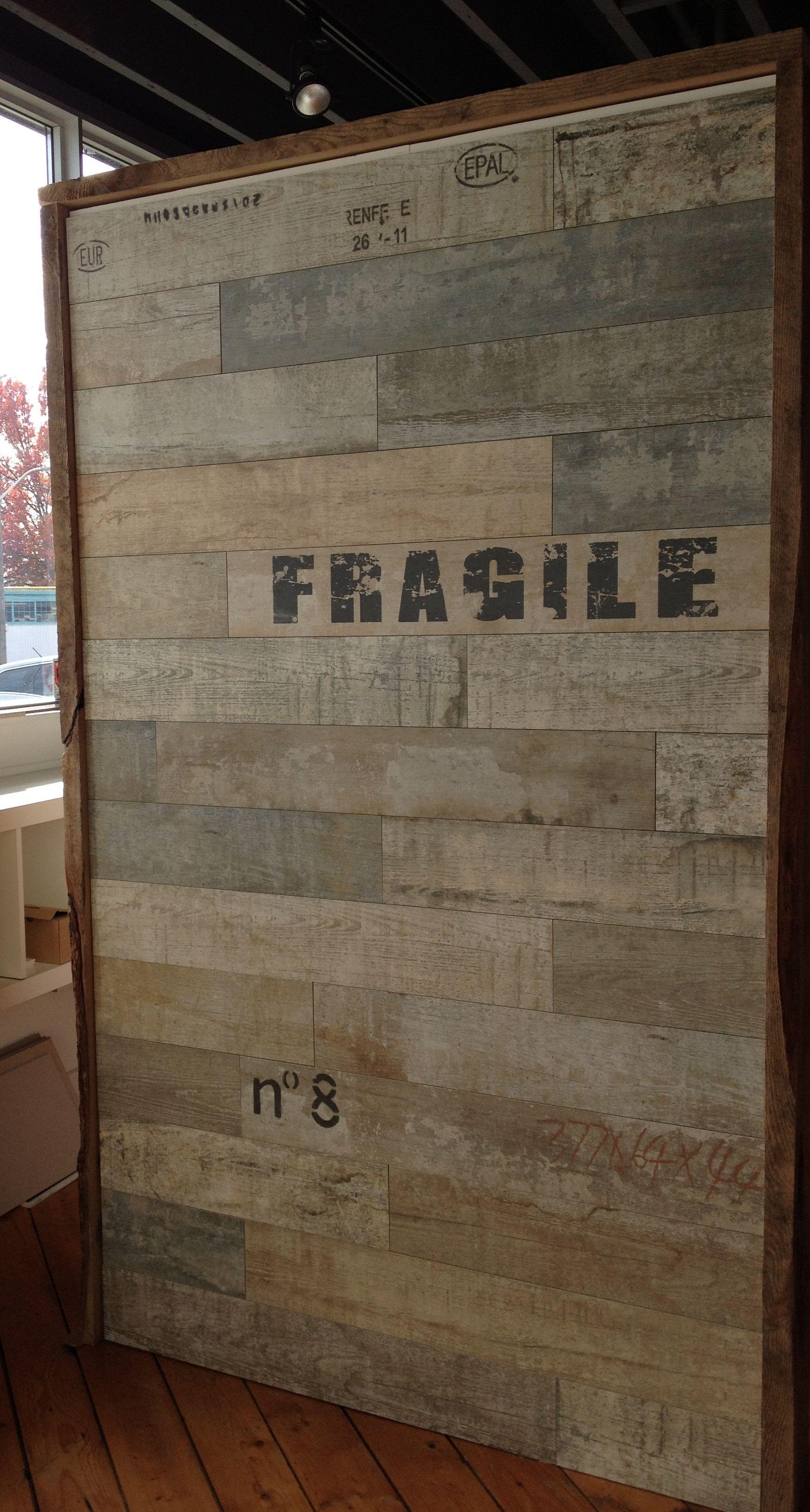 Graffiti wall tiles - Office Walls Timber Series Porcelain Graffiti Tile