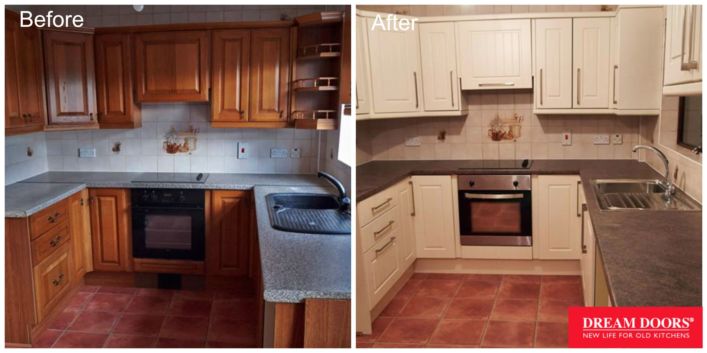 Before After Kitchen Unit Doors Kitchen Units Replacement