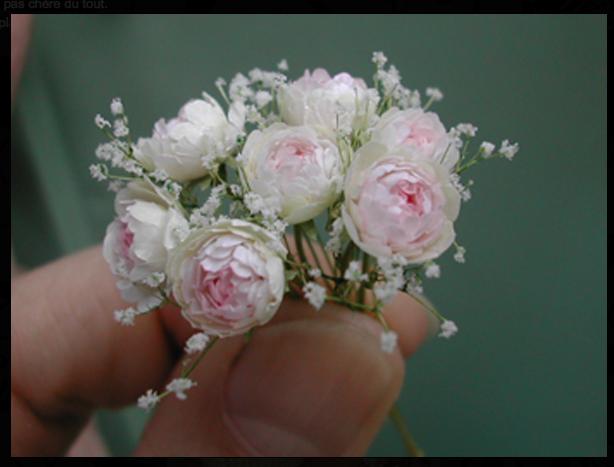 Bouquet of Flowers Miniature Dollhouse Picture