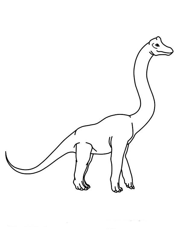 Pin On Brachiosaurus Coloring Pages