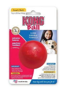 Amazon Com Kong Ball Dog Toy Small Red Pet Supplies Dog Toy Ball Dog Ball Dog Toys