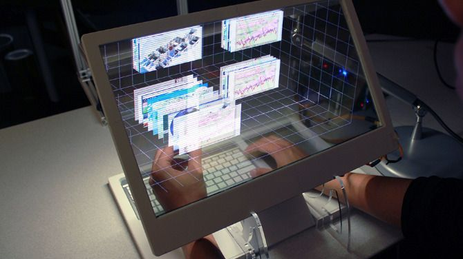 See Through 3D Desktop From MIT Media Lab Presents A Looking Glass Into A  Mathematical Wonderland