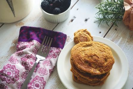 Sweet Potato Rosemary Pancakes