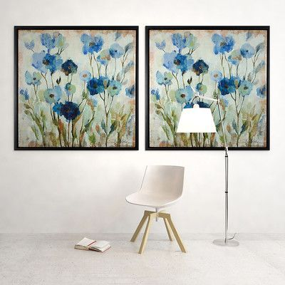 WexfordHome 'Abstracted Floral' by Vincent Van Gogh Framed Painting Print on Wrapped Canvas