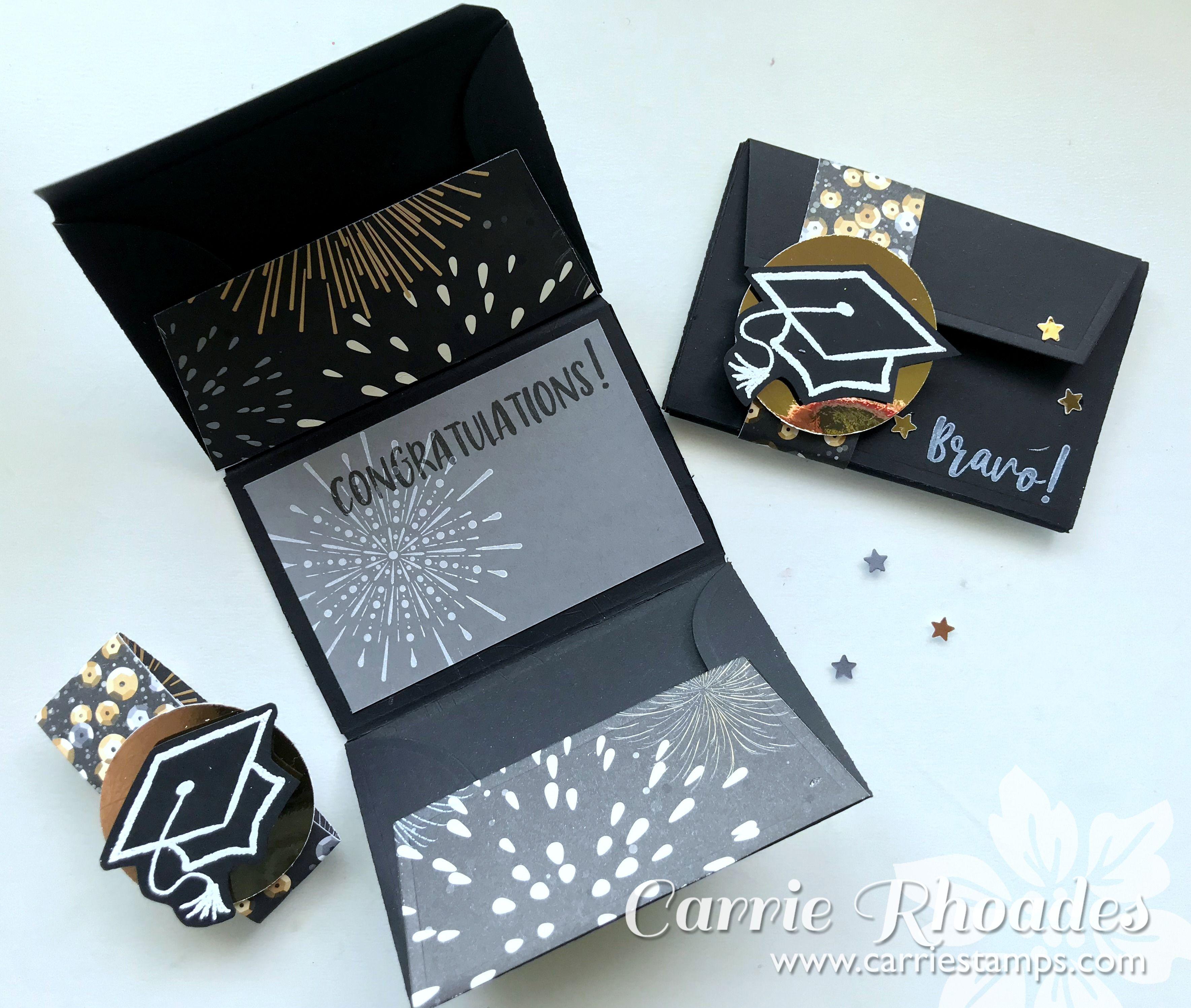Tri Fold Gift Card Sleeve Diy Graduation Gifts Graduation Cards Handmade Graduation Cards