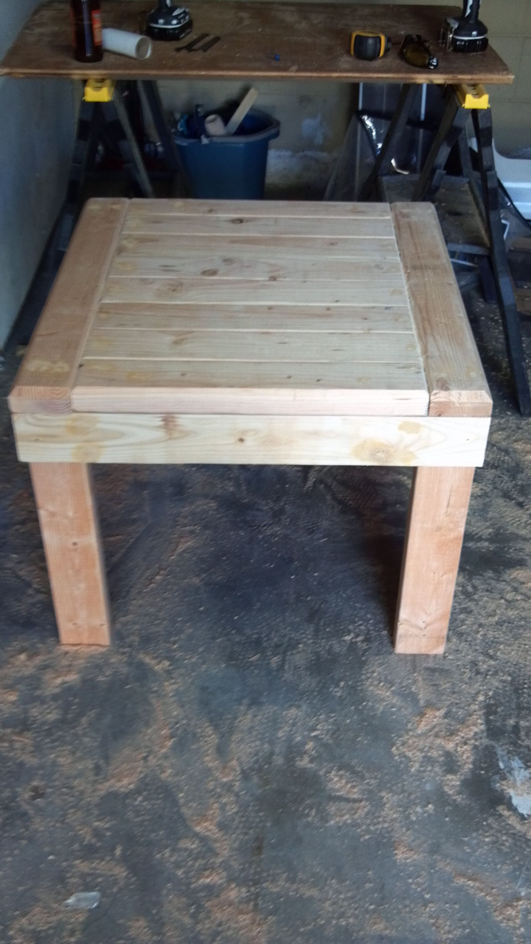 2 By 4 End Table Diy End Tables Wood Diy Wood Projects [ 3264 x 1836 Pixel ]