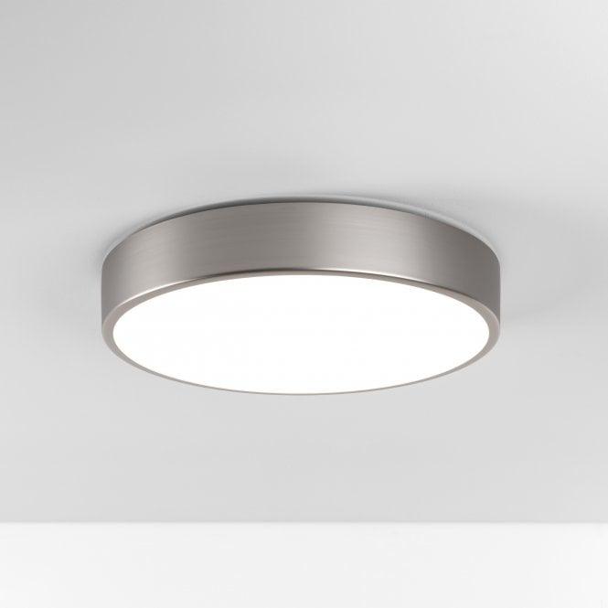Astro Astro 8001 Mallon Led Flush Ceiling Light Ip44 Matt Nickel In 2020 Bathroom Ceiling Light Glass Diffuser