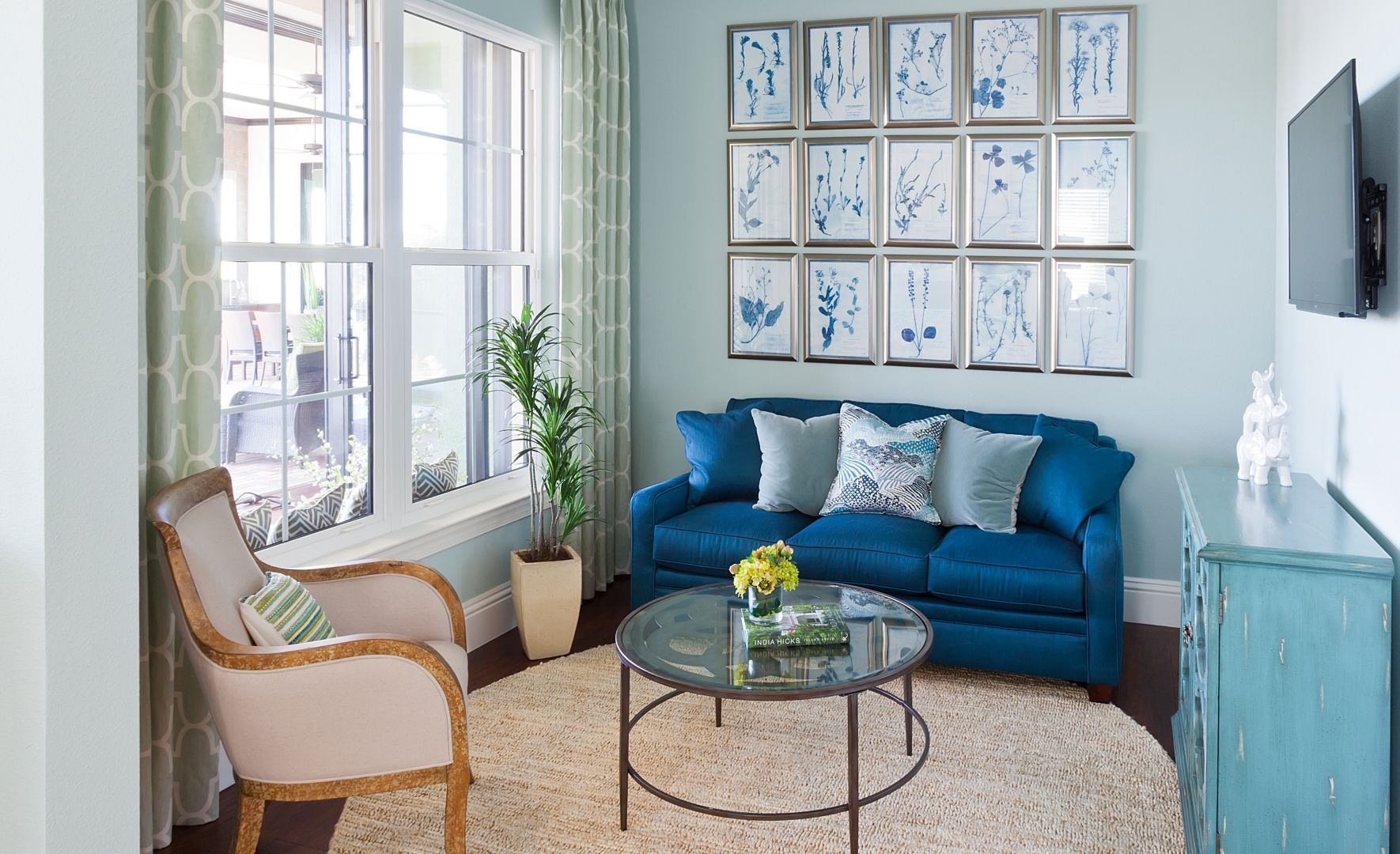 Master bedroom sitting area ideas by Beasley & Henley Interior Design.