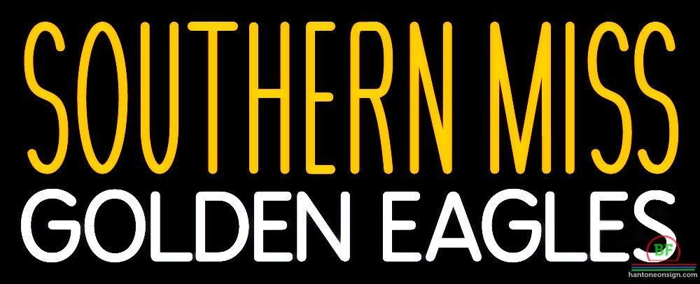 Southern Miss Golden Eagles Neon Sign NCAA Teams Neon