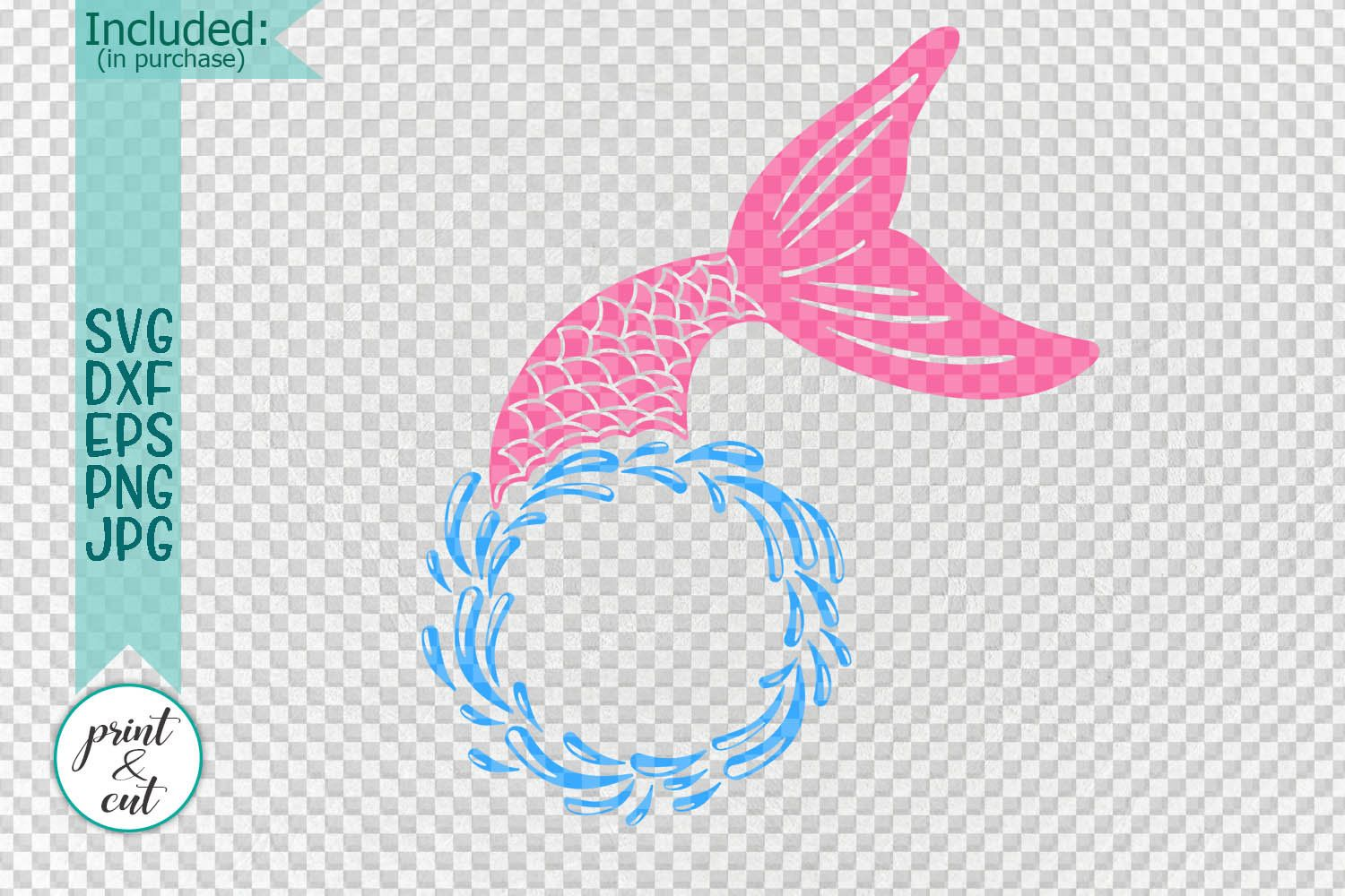 Mermaid monogram svg, beach svg, mermaid tail svg, mermaid