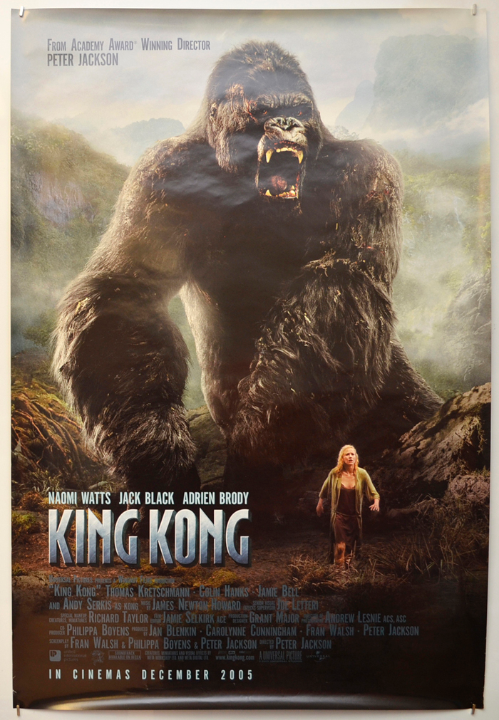 King Kong Original Cinema Movie Poster From Pastposters Com