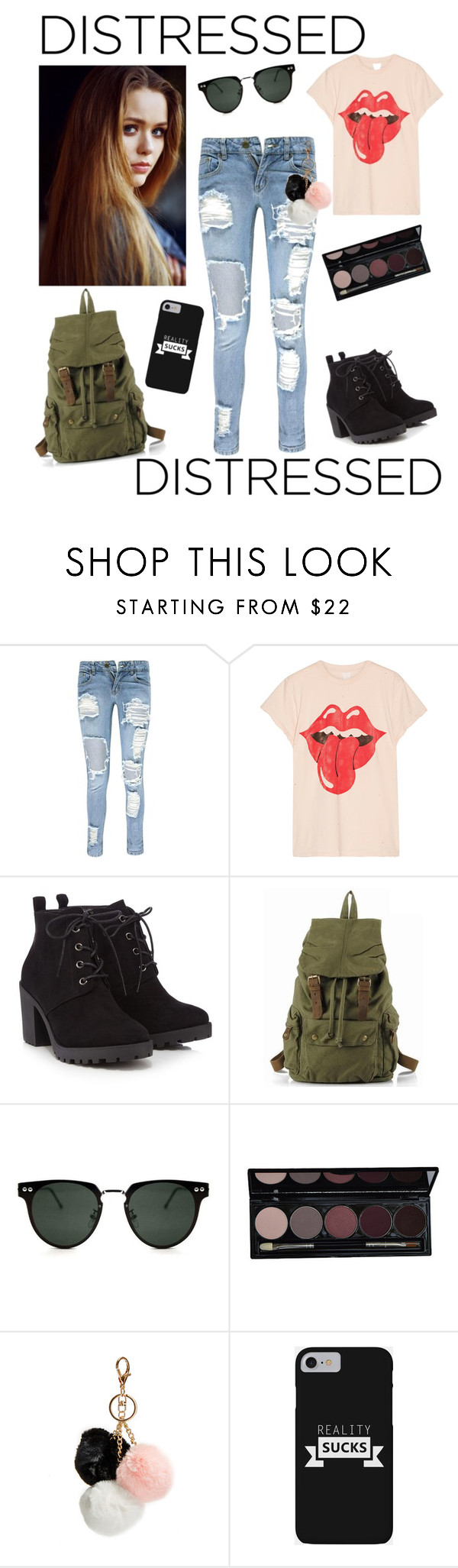 """""""MOOD"""" by dstanford1020 ❤ liked on Polyvore featuring Boohoo, MadeWorn, Red Herring, Spitfire, GUESS and Toni&Guy"""