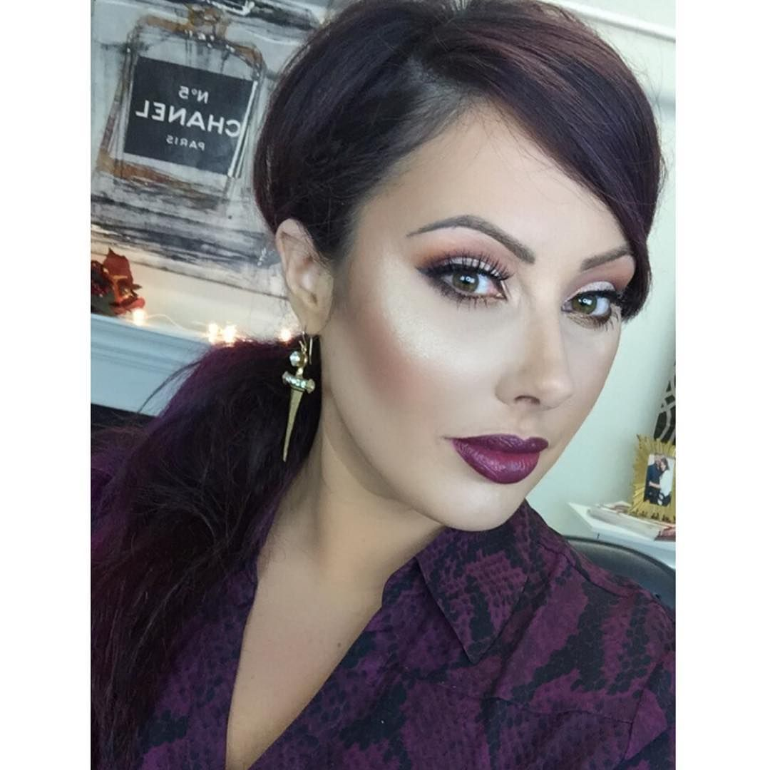 """""""This tutorial is up on YouTube/makeupgeektv  Its my new go to Fall look- nice and vampy!!! I'm sooooo done with summer and ready for some boots and…"""""""