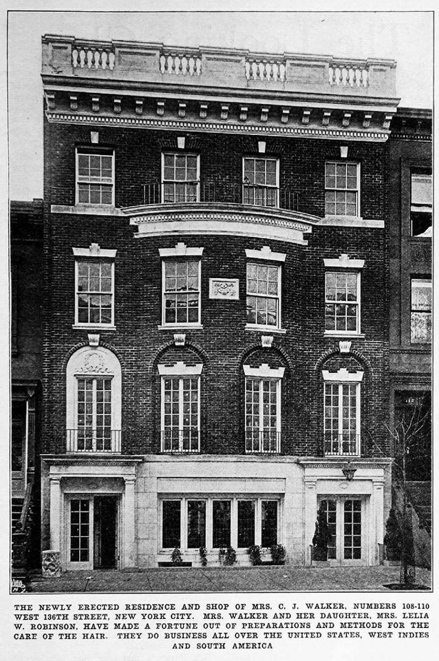 New Residence And Shop Of Madame Cj Walker In New York Crisis