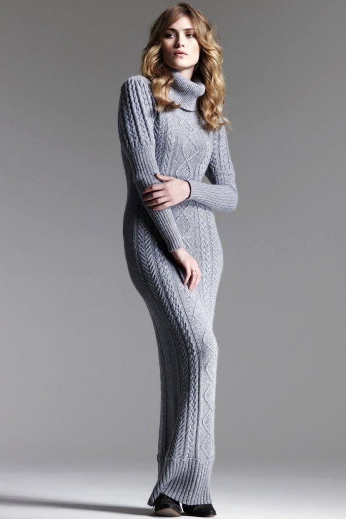 TRICO y CROCHET-madona-mía: Vestidos en tricot- Modelos