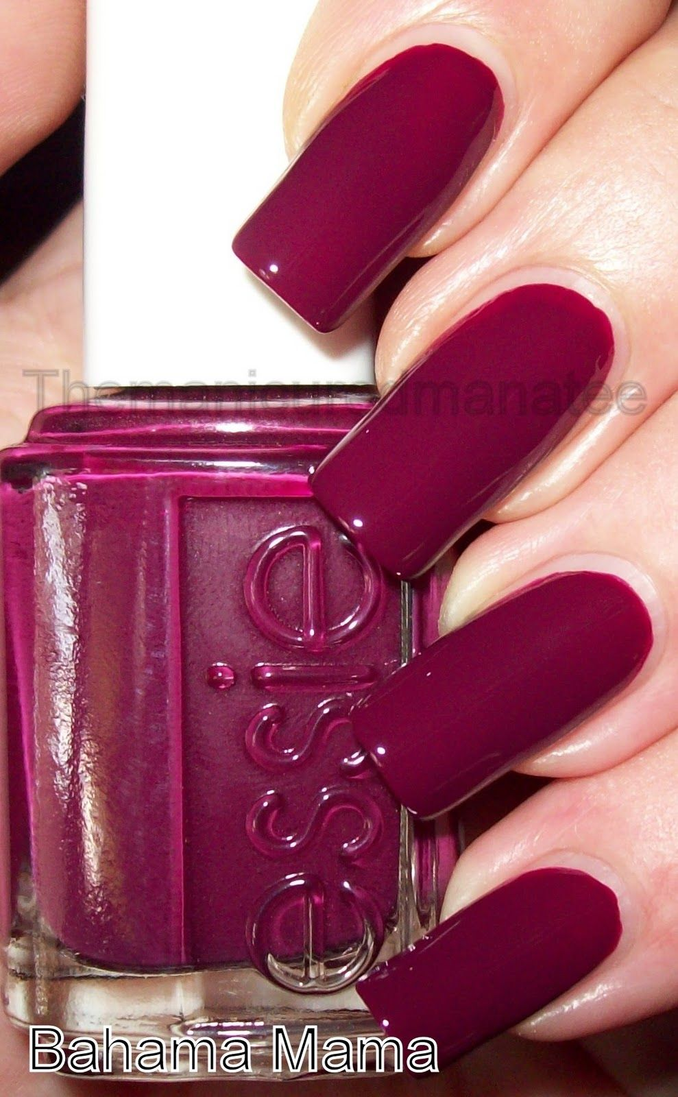 Essie Bahama Mama- just bought this! Awesome plum color for fall ...