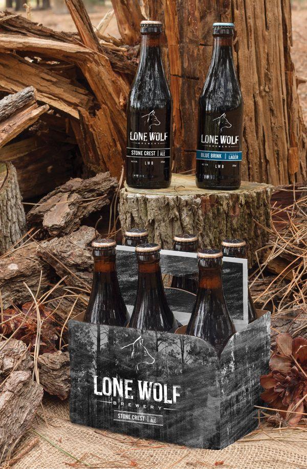 Lone Wolf Brewery By Ryan Vincent Via Behance Brewery Beer Packaging Micro Brewery