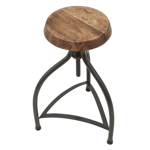 cooper vintage solid wood metal adjustable bar stool 34 inch bar stool solid oak and stools. Black Bedroom Furniture Sets. Home Design Ideas