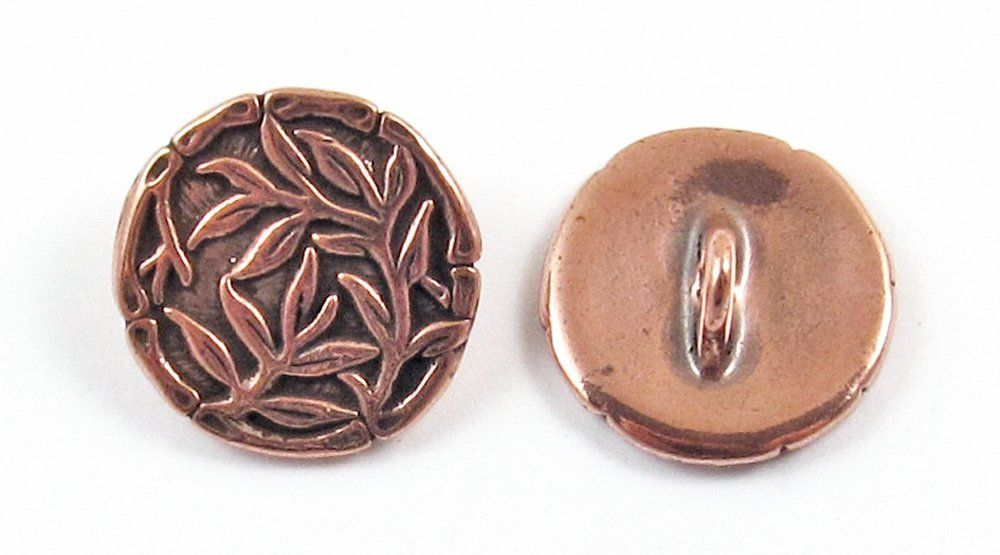 TierraCast Pewter Buttons-ANTIQUE COPPER BAMBOO 16mm (2) >>> Want to know more, click on the image.