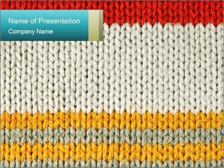 Striped Knitted Ornament PowerPoint Template | powerpoint ...