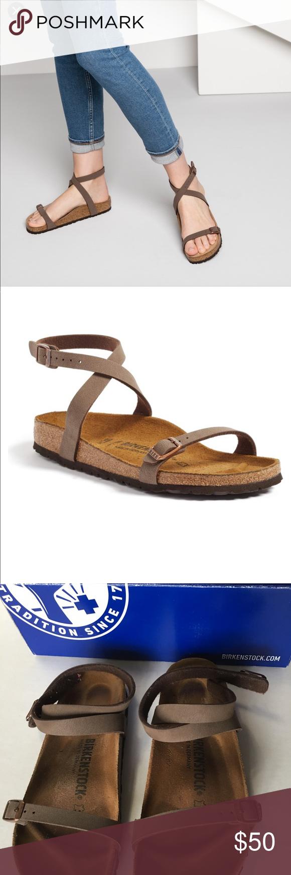 188fba91977 Daloa Mocca Birkenstock. Daloa Mocca Birkenstock A wraparound strap adds to  the feminine appeal of a classic Birkenstock sandal ...