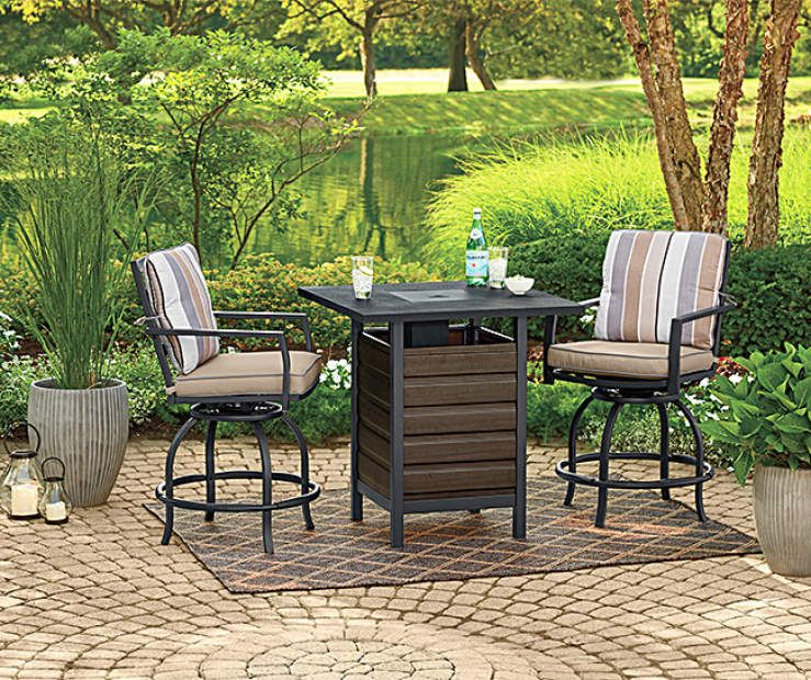 Outstanding Wilson Fisher Bayshore 3 Piece High Top Bistro Fire Pit Ocoug Best Dining Table And Chair Ideas Images Ocougorg