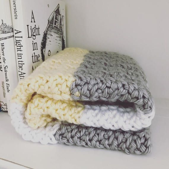 Crochet Chunky Comfy And Cozy Baby Blanket Or Throw Pattern