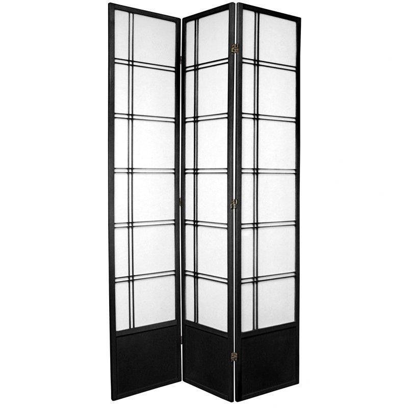 "83.5"" x 42"" Double Cross Shoji 3 Panel Room Divider"