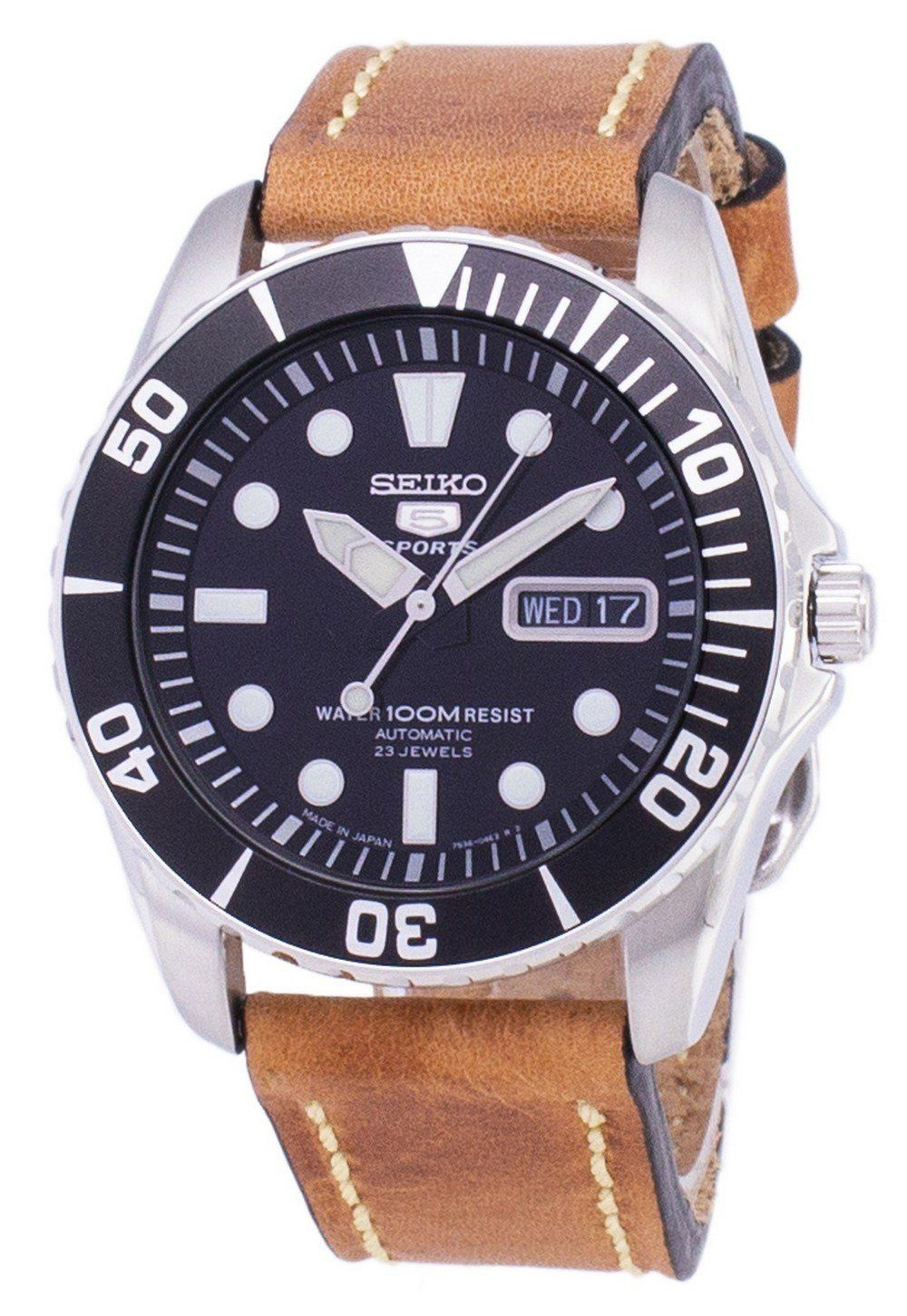 Seiko 5 Sports SNZF17J1LS17 Automatic Japan Made Brown