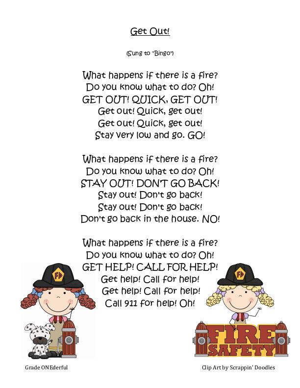 Get Out.pdf Google Drive Fire safety preschool