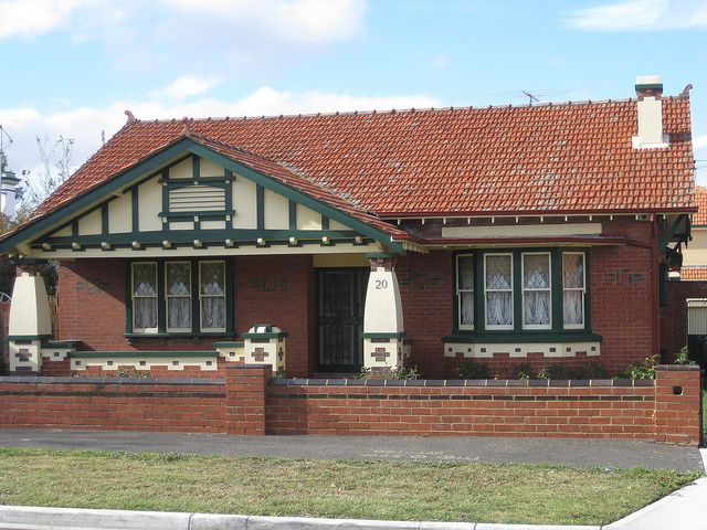 A Large Red Brick Arts And Crafts Style Bungalow Essendon Brick Exterior House Red Brick House Exterior Red Brick House