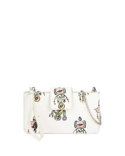 8d397d6070ca PRADA Saffiano Robot Clutch Bag W/Chain Strap. #prada #bags #shoulder bags # clutch #leather #hand bags #